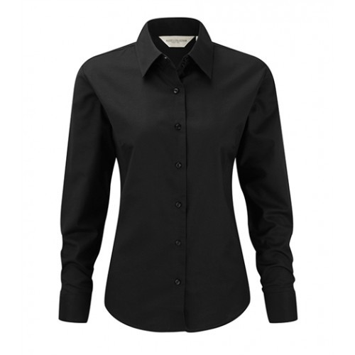 Russell Ladies LS Easy Care Oxford Black