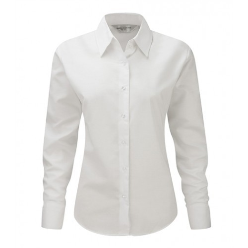Russell Ladies LS Easy Care Oxford White