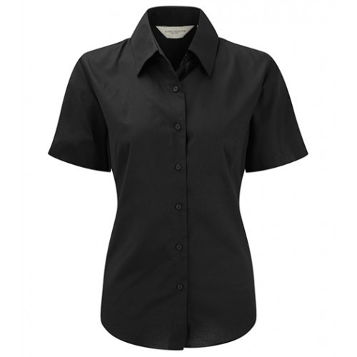 Russell Ladies Sh Sl Easy Care Oxford Black