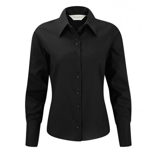 Russell Ladies´LS Ultimate Non iron Shirt Black