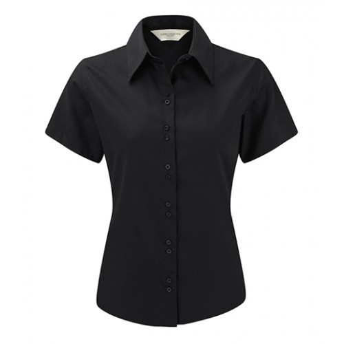 Russell Ladies´S/S Ultimate Non iron Shirt Black