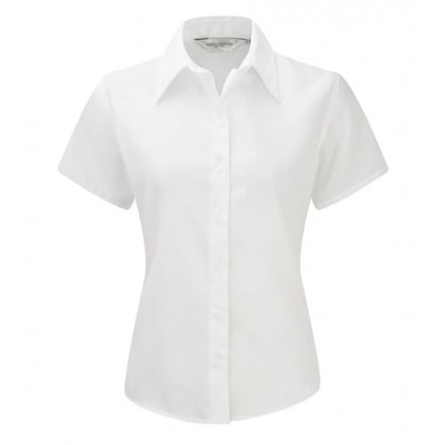 Russell Ladies´S/S Ultimate Non iron Shirt White