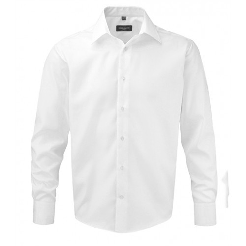 Russell Men´s LS Tailored Ultimate Non iron Shirt White