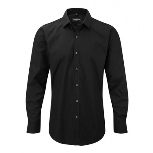 russell Men´s L/S Ultimate Stretch Shirt Black
