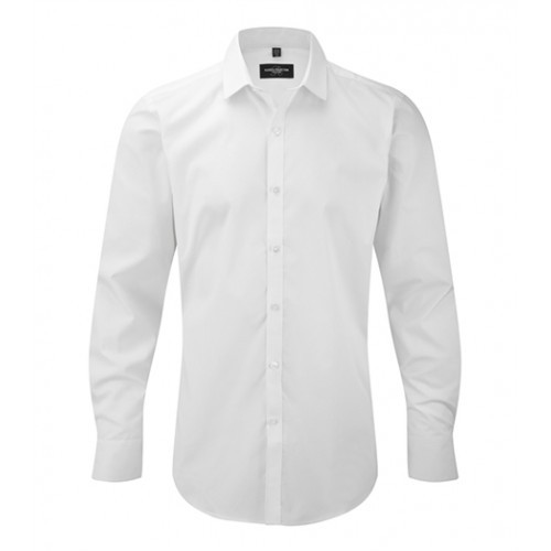 russell Men´s L/S Ultimate Stretch Shirt White
