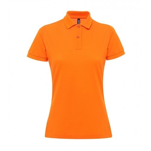 Asquith Women's classic fit performance blend polo Orange