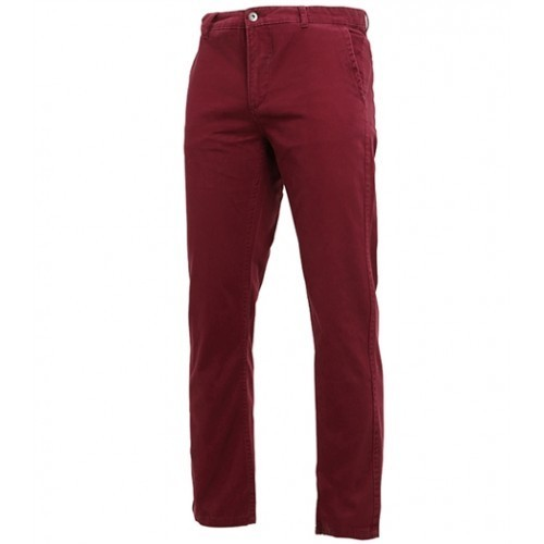 Asquith Mens Classic Fit Chino Tall Burgundy