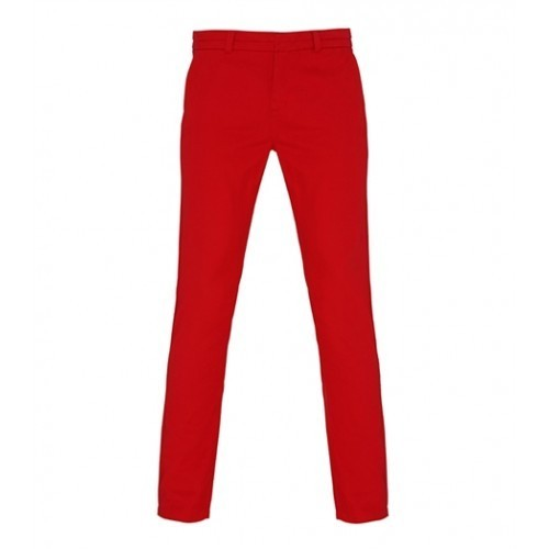 Asquith Womens Classic Fit Chino Cherry Red