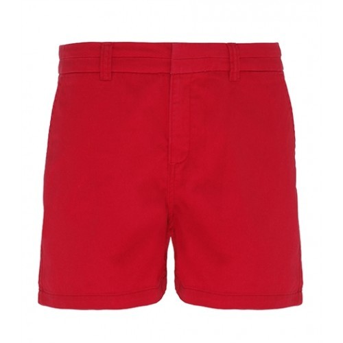 Asquith Womens Classic Fit Short Cherry Red