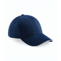 Beechfield Athleisure 6 Panel Cap French Navy/White