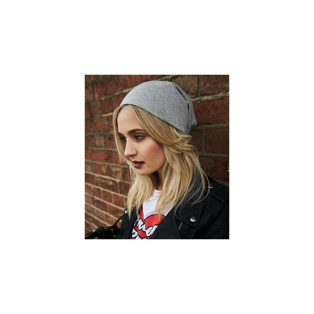 aff7d2e5e2c Köp Beechfield Hemsedal Cotton Slouch Beanie Heather Grey på buyersclub.se