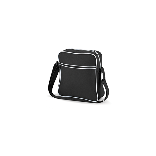 Bag Base Retro Flight Bag Black/White