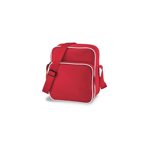 Bag Base Retro Day Bag Classic Red/White