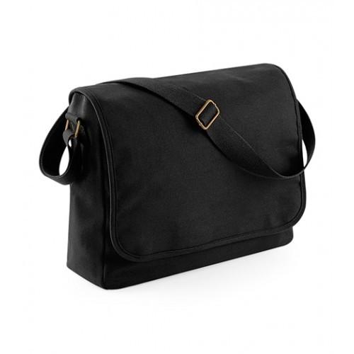 Bag Base Classic Canvas Messenger Black