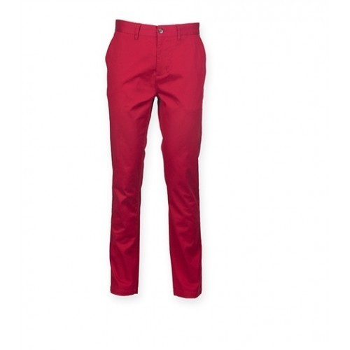 Front Row Men's Stretch Chinos Tag Free Vintage Red