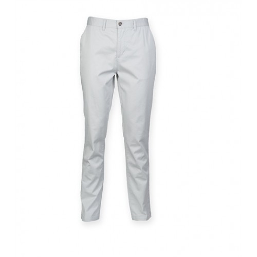 Front Row Men's Stretch Chinos Tag Free Light Grey