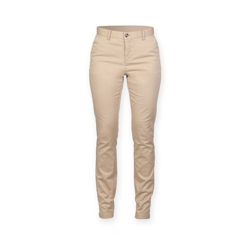Front Row Ladies' Stretch Chinos Tag Free Stone