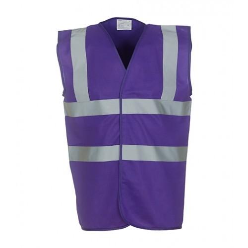Yoko Hi Vis 2 Band & Braces Waistcoat Purple