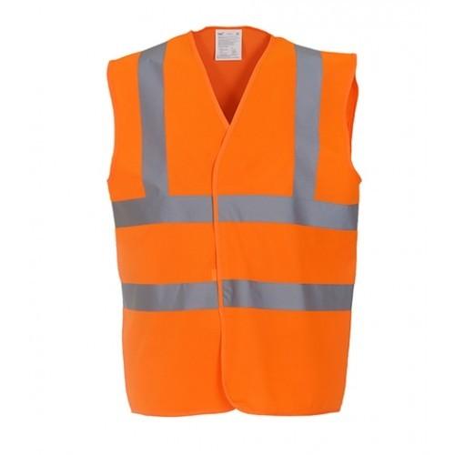 Yoko Hi Vis 2 Band & Braces Waistcoat Orange