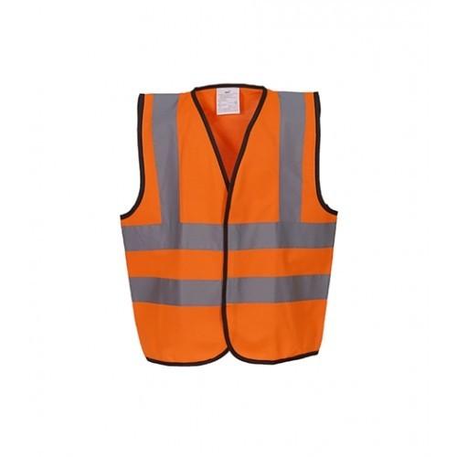 Yoko Hi Vis Children 2 B&B Waistcoat Orange