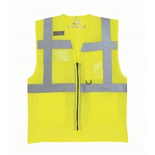 Yoko Hi Vis Executive Open Mesh Waistcoat Hi Vis Yellow