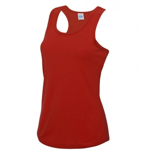 Just Cool Girlie Cool Vest Fire Red