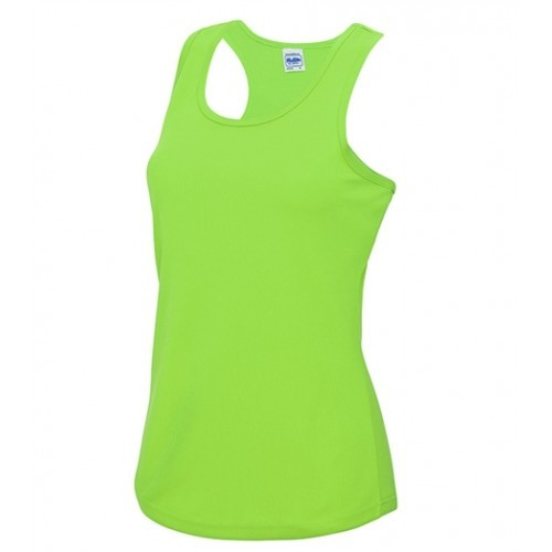 Just Cool Girlie Cool Vest Electric Green