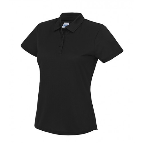 Just Cool Girlie Cool Polo Jet Black