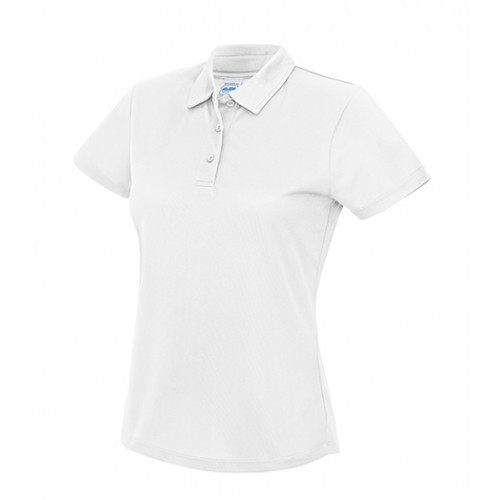 Just Cool Girlie Cool Polo Artic White