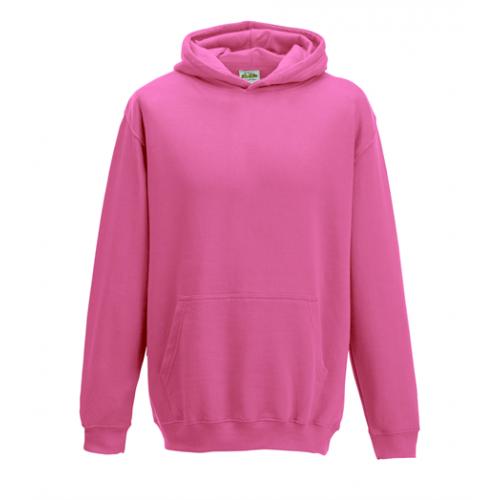 Just Hoods Kids Hoodie candyfloss Pink