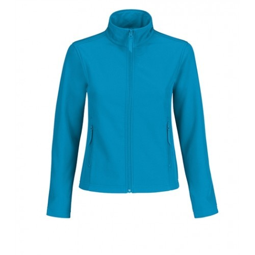 B and C Collection ID.701 Womens Softshell Atoll/Ghost Grey