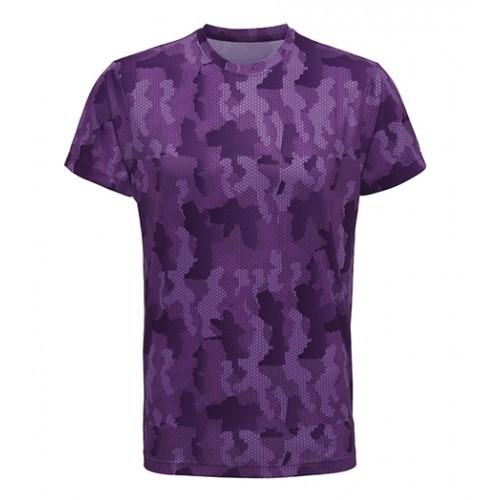 Tri Dri Men's TriDri Hexoflage™ performance t-shirt Camo Purple