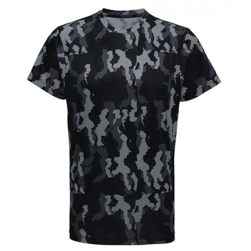 Tri Dri Men's TriDri Hexoflage™ performance t-shirt Camo Charcoal