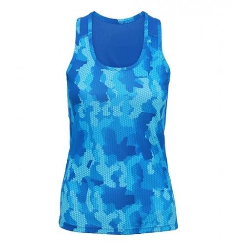 Tri Dri Women's TriDri Hexoflage™ performance Vest Camo Sapphire