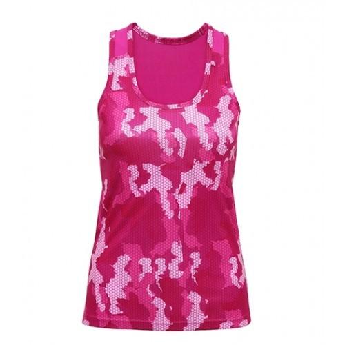Tri Dri Women's TriDri Hexoflage™ performance Vest Camo Hot Pink