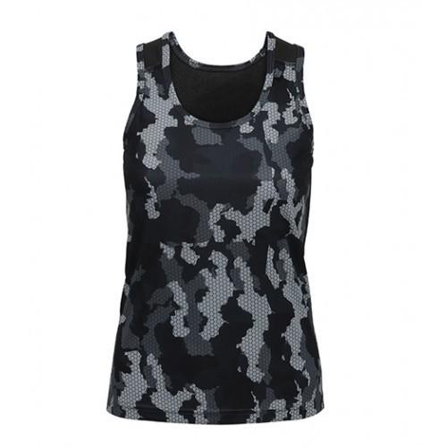Tri Dri Women's TriDri Hexoflage™ performance Vest Camo Charcoal