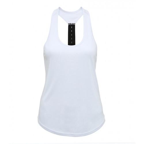 Tri Dri Women's TriDri® performance strap back vest White