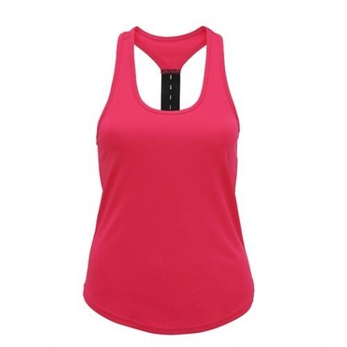 Tri Dri Women's TriDri® performance strap back vest Hot Pink