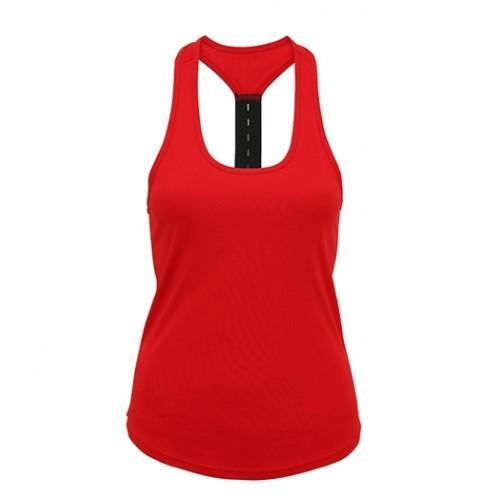 Tri Dri Women's TriDri® performance strap back vest Fire Red