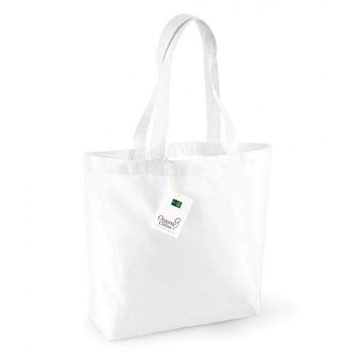 Westford mill Organic Cotton Shopper White