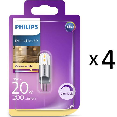 Philips LED G4 20W (2W)12V Dimbar 4st