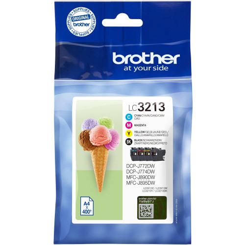 Brother Valuepack BK/C/M/Y 400sid/färg