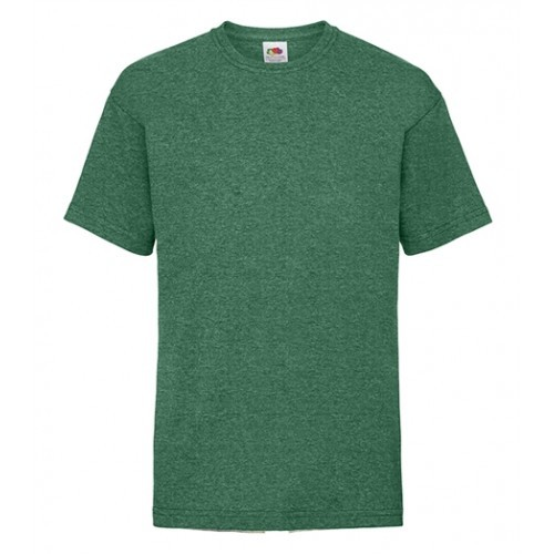 Fruit of the loom T- shirt Kids Valueweight Retro Heather Green