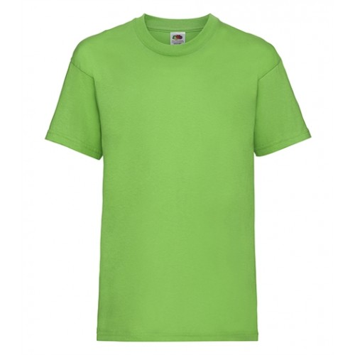 Fruit of the loom T- shirt Kids Valueweight Lime