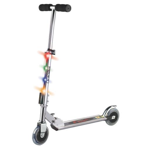 Klippex Sparkcykel med belysning Svart