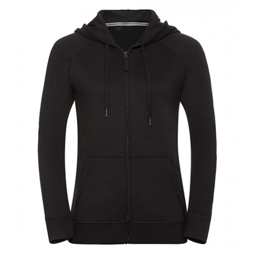 Russell Ladies HD Zipped Hood Sweat Black