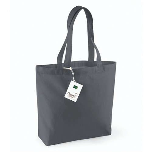 Westford mill Organic Cotton Shopper Graphite Grey
