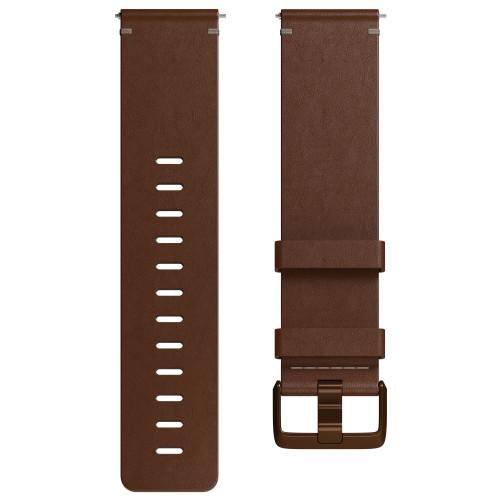 Fitbit Versa Läderarmband Cognac L