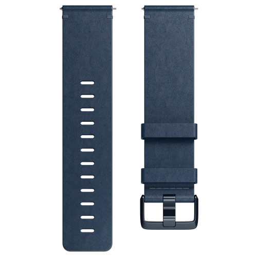 Fitbit Versa Läderarmband M.Blue S