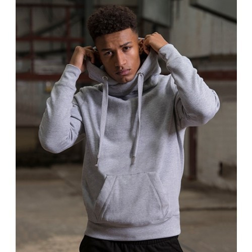 Just Hood Cross Neck Hoodie Baby Pink